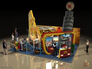 TDM Travel Tours - Egyedi stand tervezés, standépítés (2009)