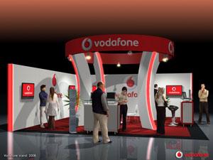 Vodafone - Egyedi stand tervezés és standépítés (2008)